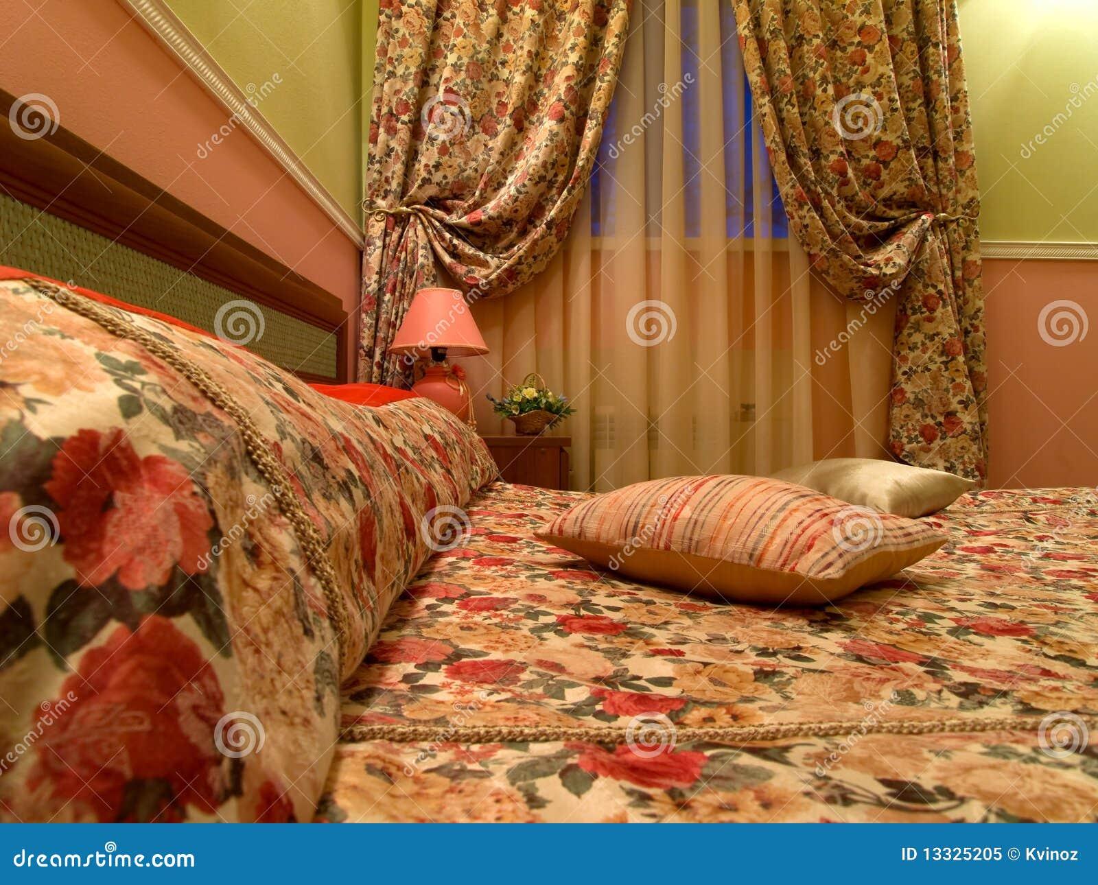 Wewnętrzny romantyczny pokój