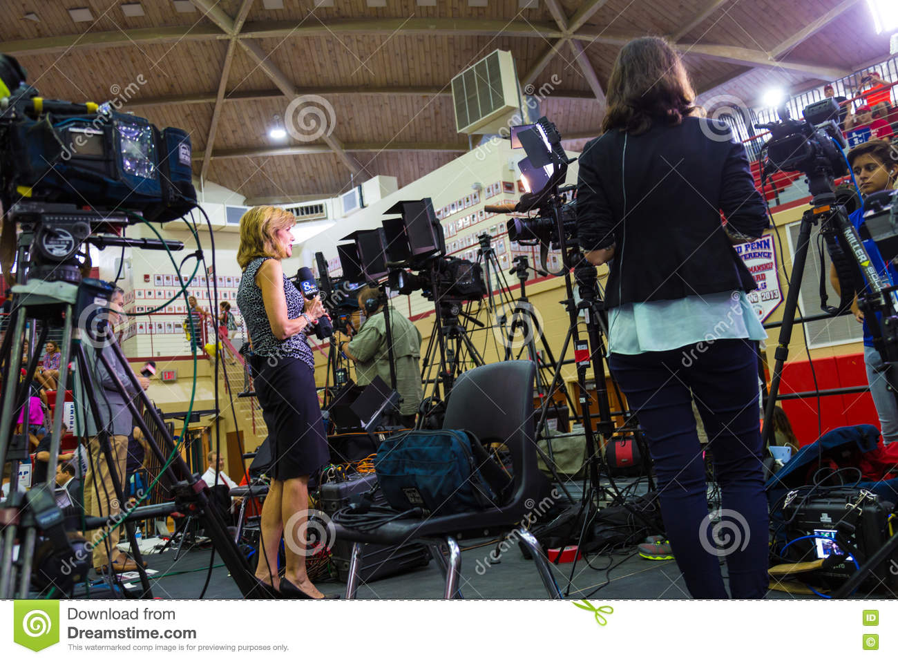 WGAL Reporter Live Broadcast Editorial Stock Image - Image