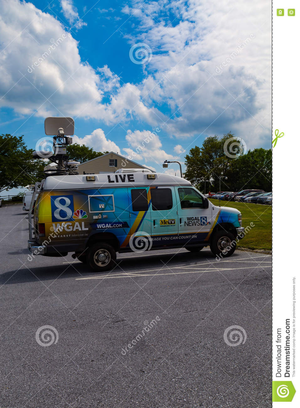 WGAL TV Channel 8 News Truck Editorial Image - Image of