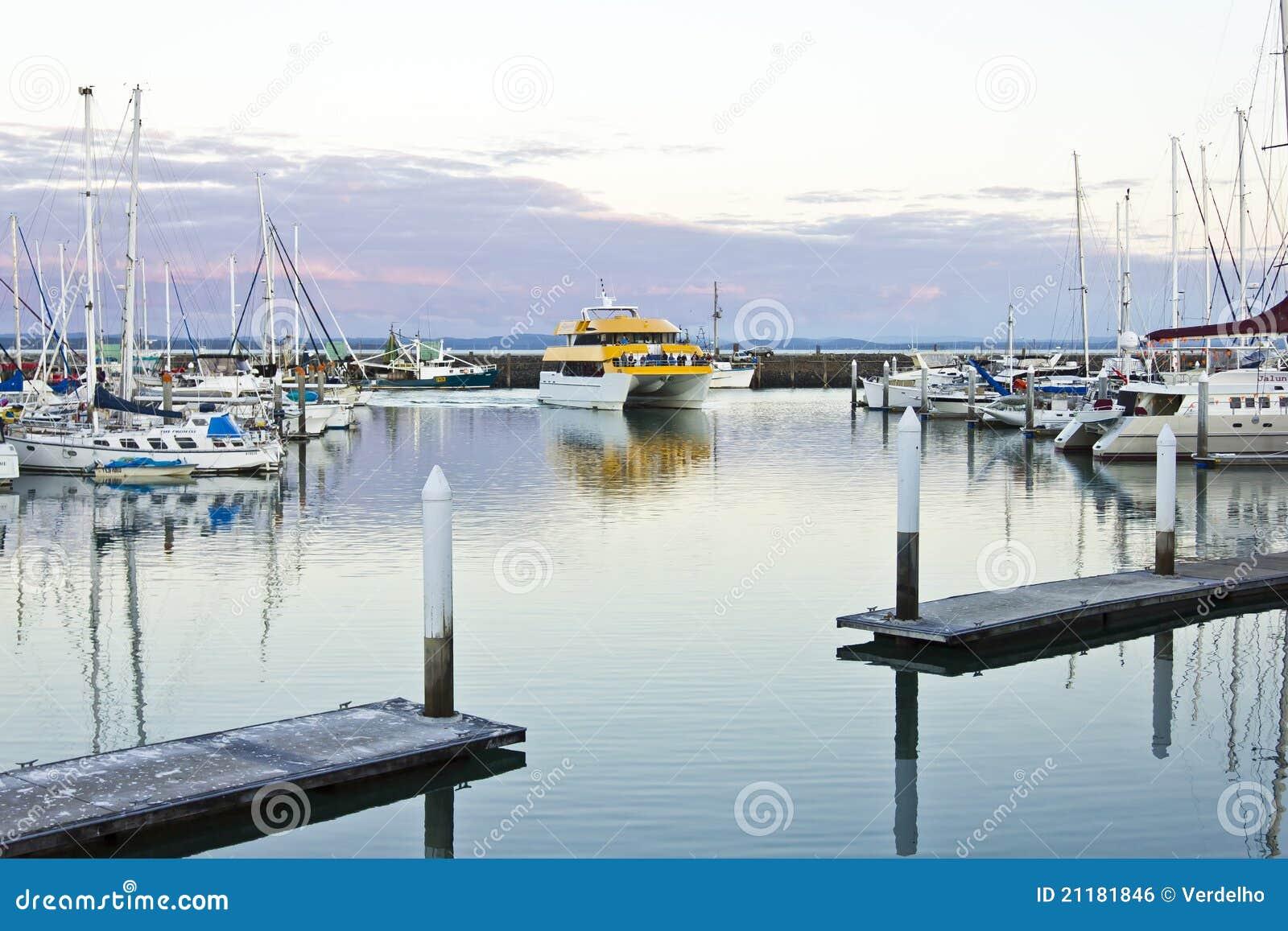 Whale Watching Boat Returning To Hervey Bay Marina