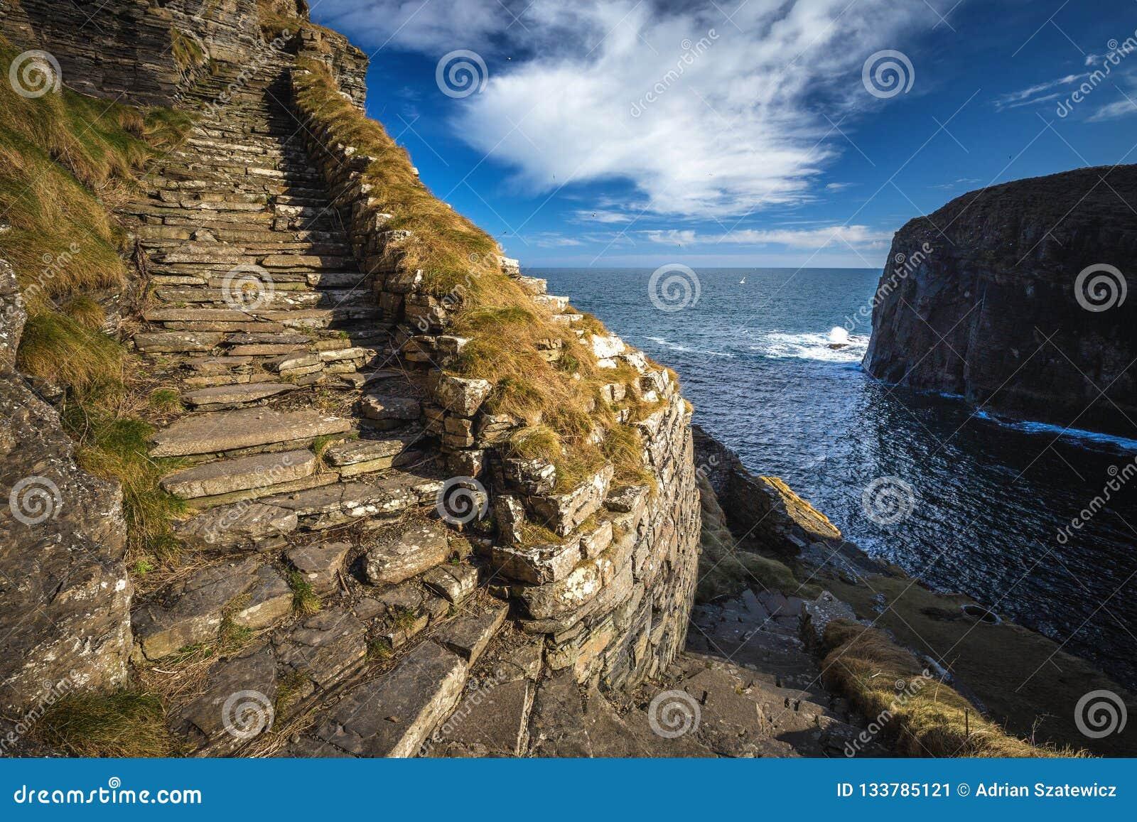 Whaligoe steps, Highlands of Scotland