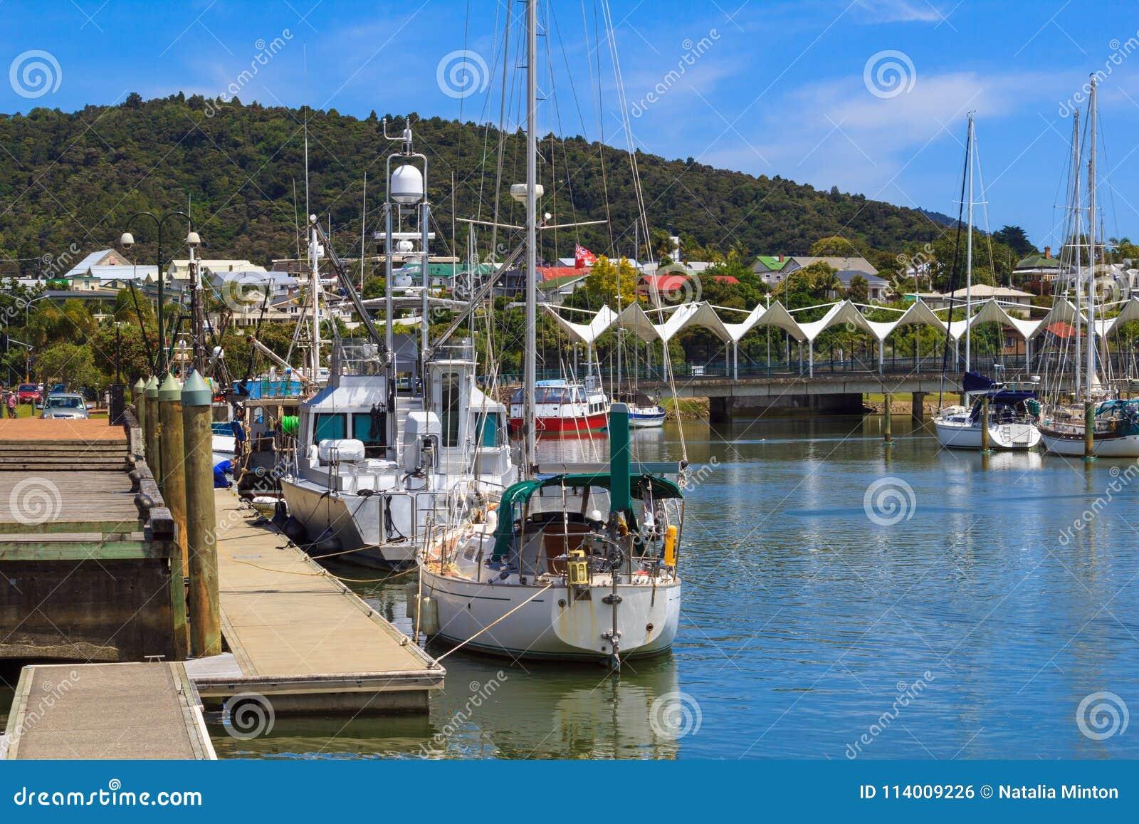 Whangarei Marina In Summer Day Stock Photo - Image of