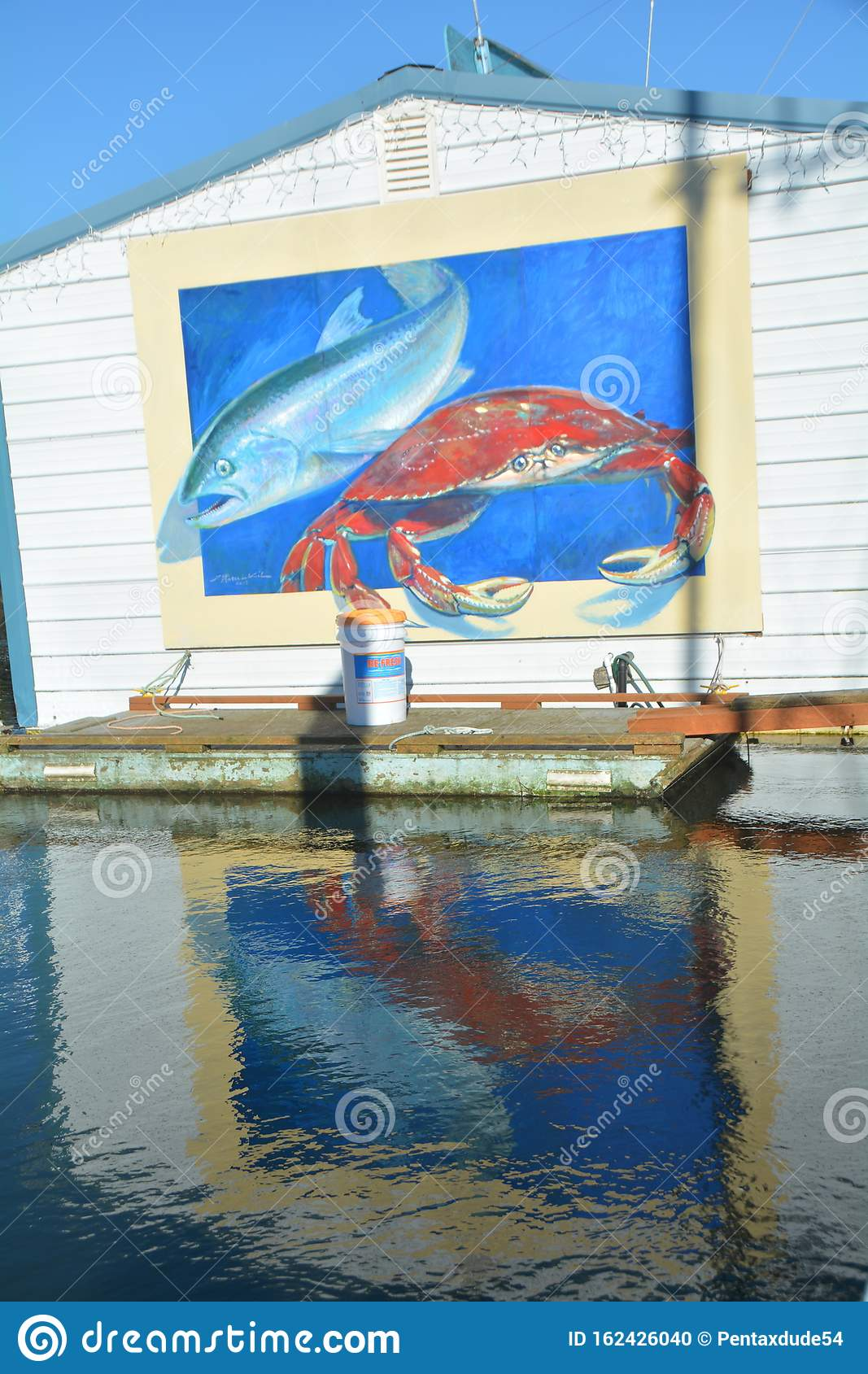 Wharf Mural in Florence, Oregon: vertical