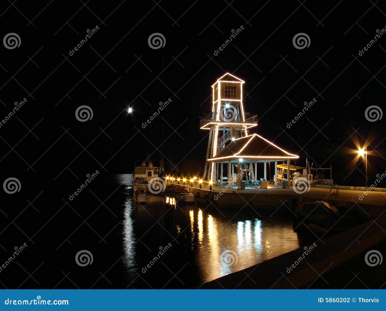 Wharf at night