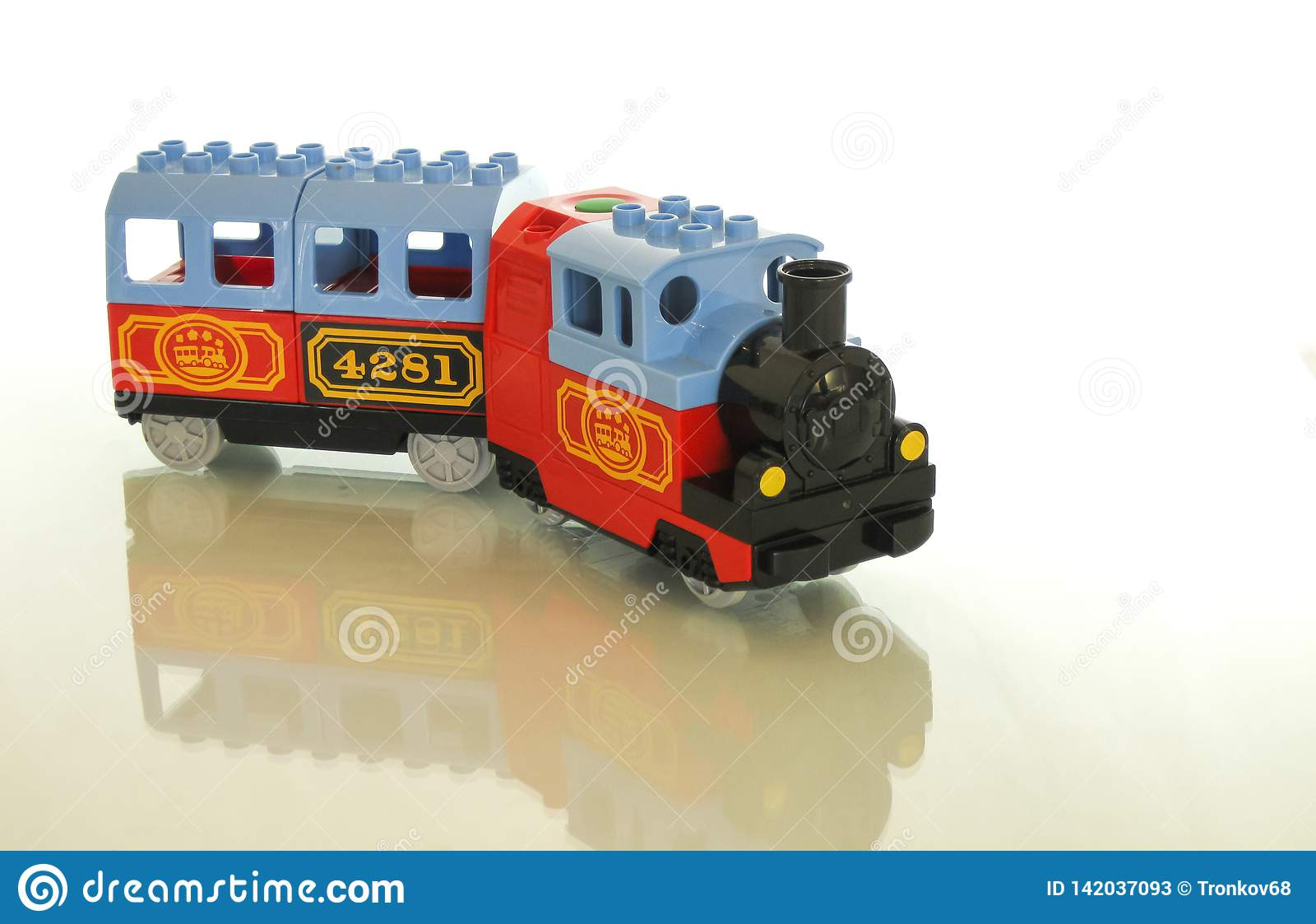 Designer and train - a great combination for a toy.