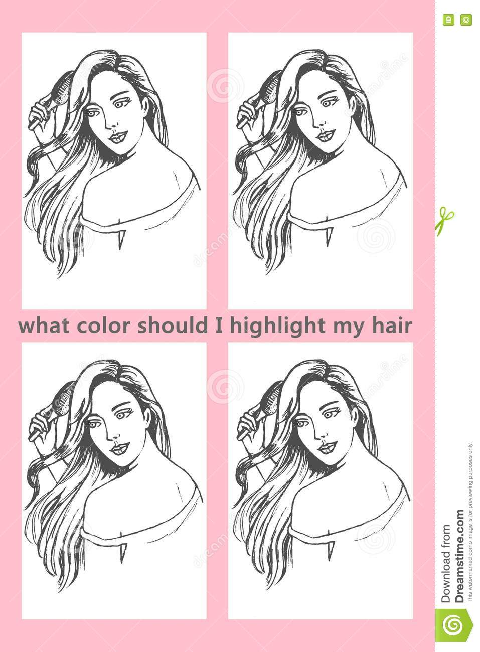 What color should i highlight my hair coloring picture stock what color should i highlight my hair coloring picture pmusecretfo Images
