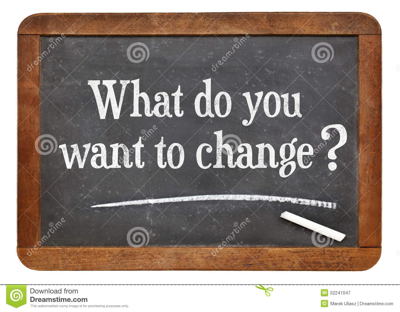 what do you want to change  stock image