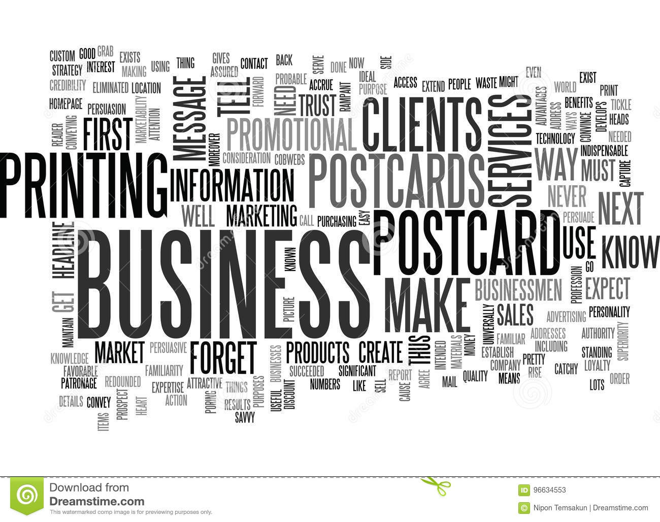 Download What Do Your Clients Expect From Postcards Word Cloud Stock Illustration
