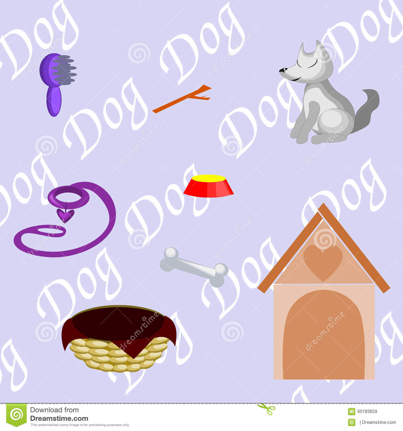 What a dog needs stock vector image 60183659 for What a dog needs