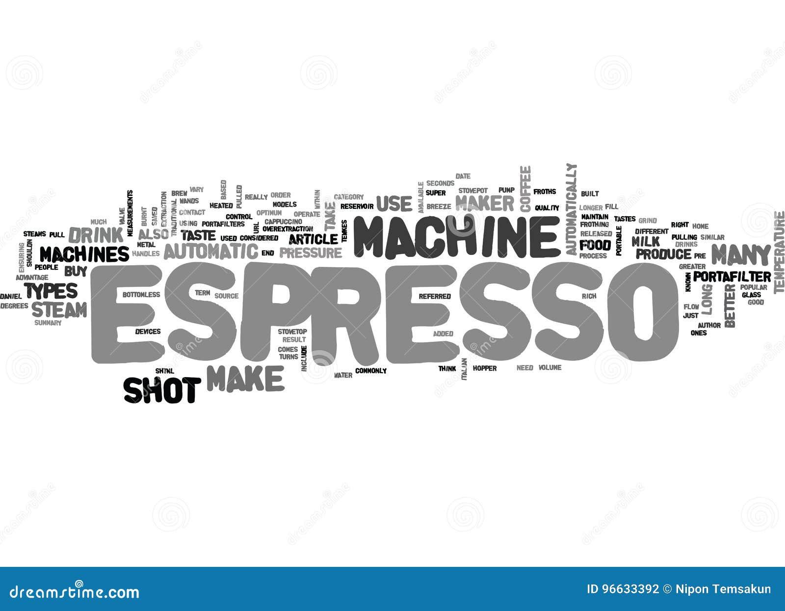 What Espresso Machine Should I Buy Word Cloud Stock ...