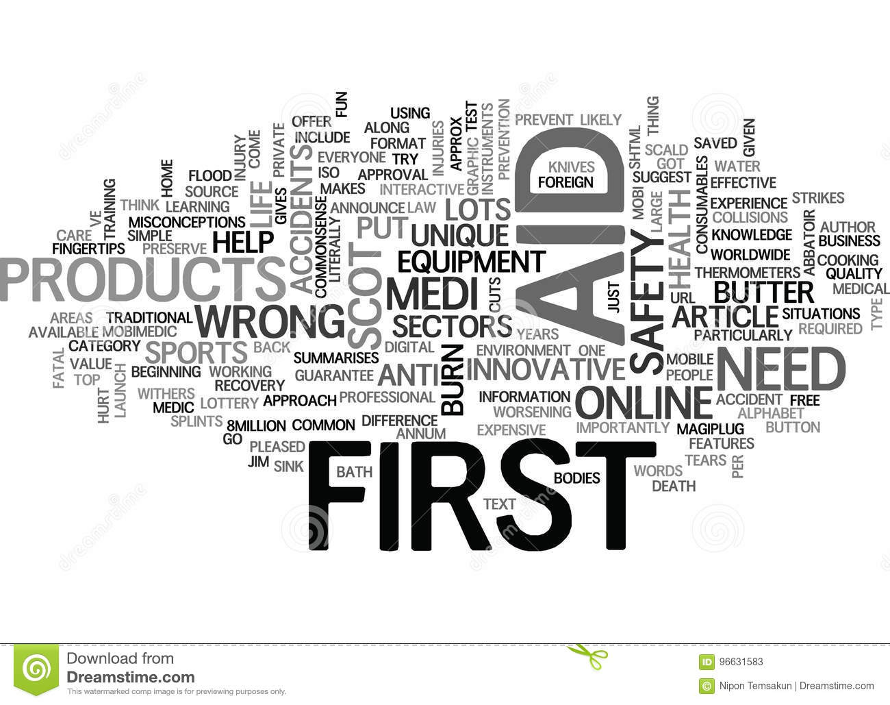What Is First Aid Word Cloud Stock Illustration Illustration Of
