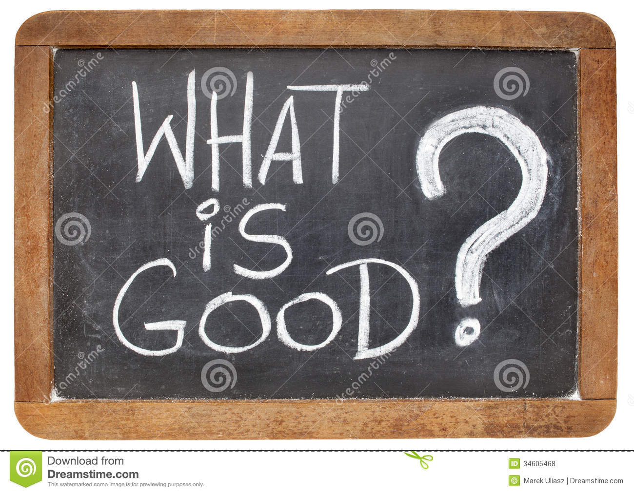 what is good question stock photo image of chalk black