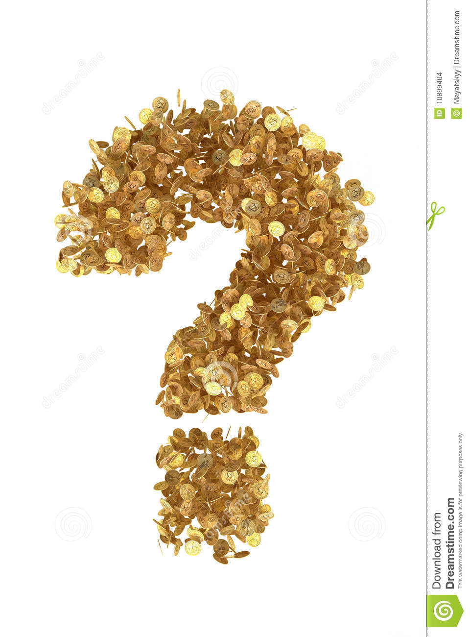 What Quest Symbol From Gold Presidential Dollars Stock Illustration