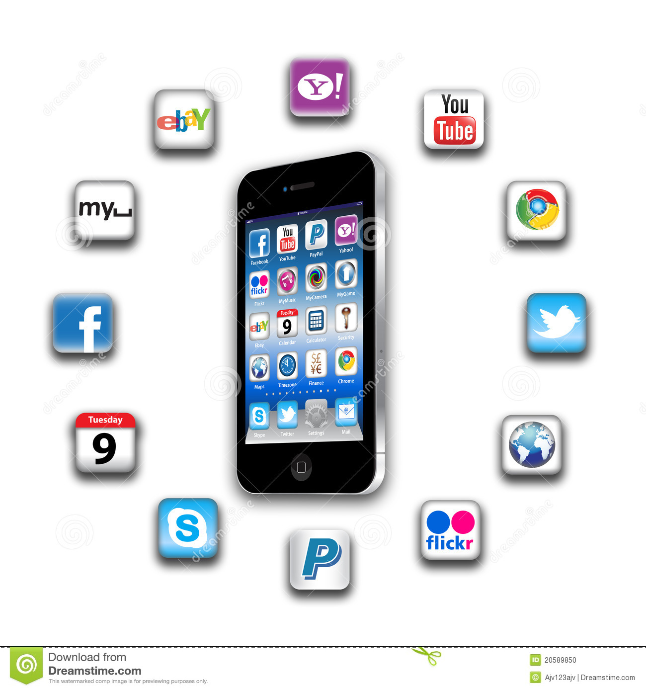 What s apps are on your mobile network today?