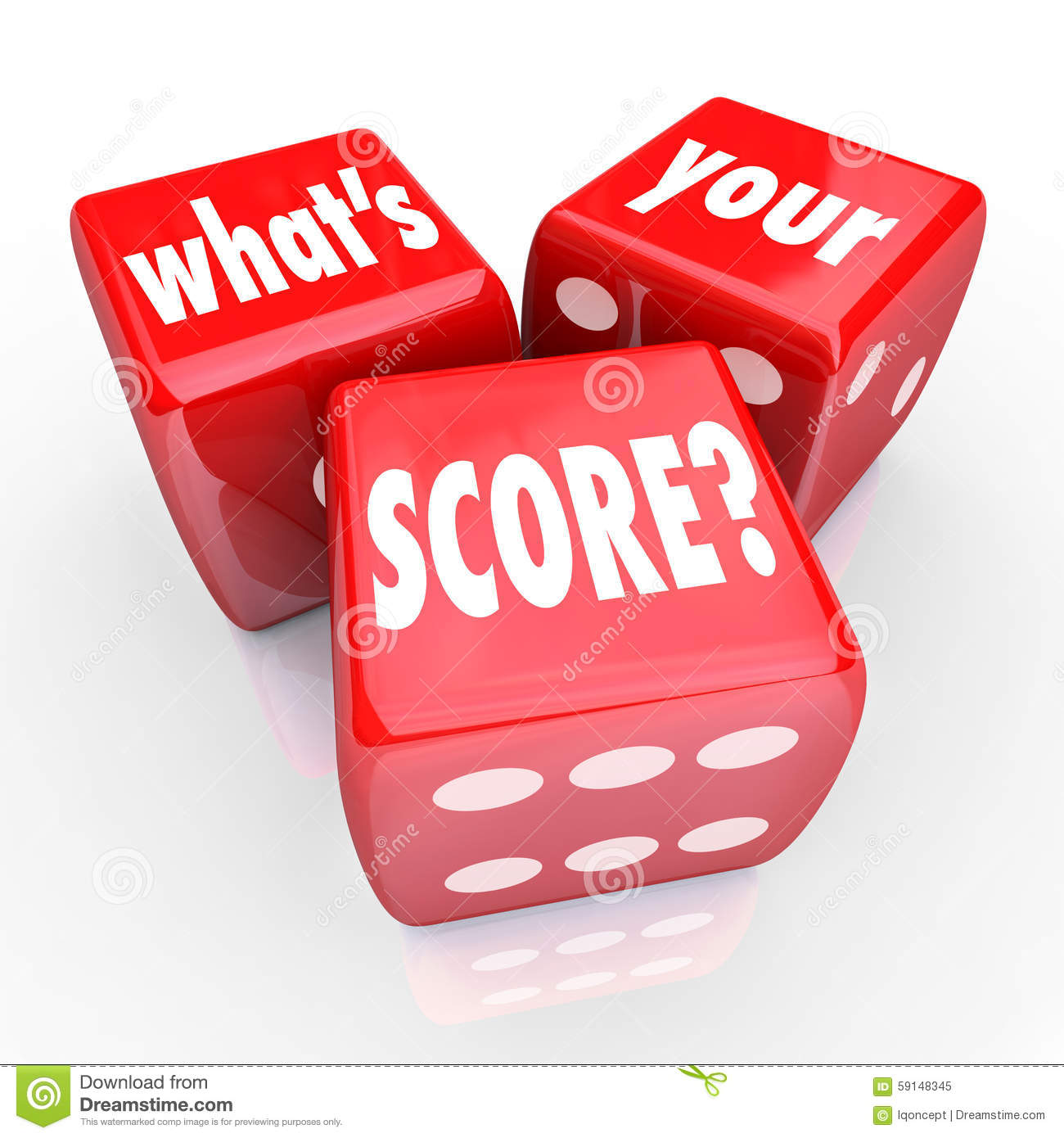 What s Your Score Three 3 Red Dice Credit Rating Level Grade