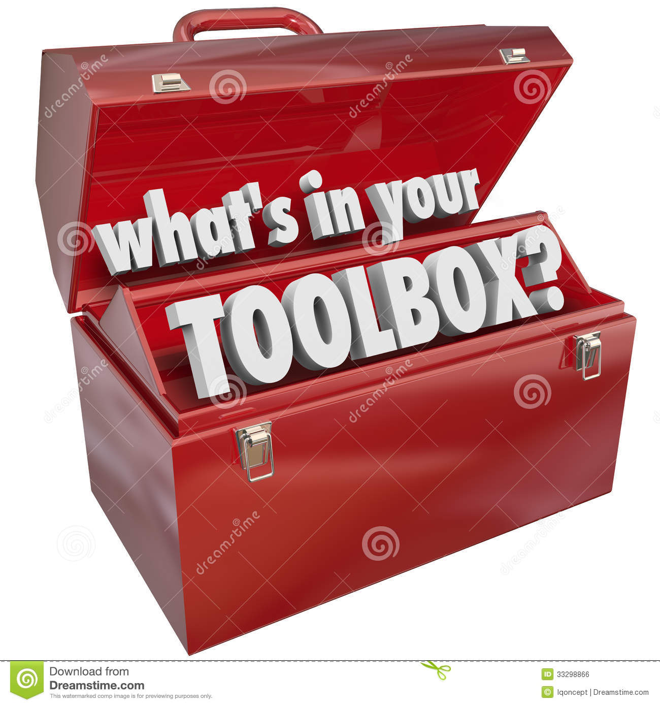 The question What's in Your Toolbox? asking if you have the skills and ...