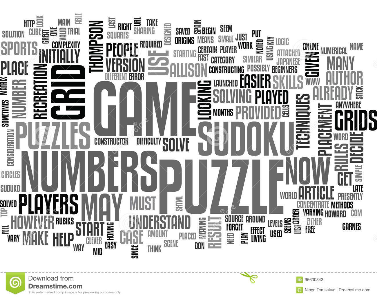 what is sudoku word cloud stock illustration illustration of