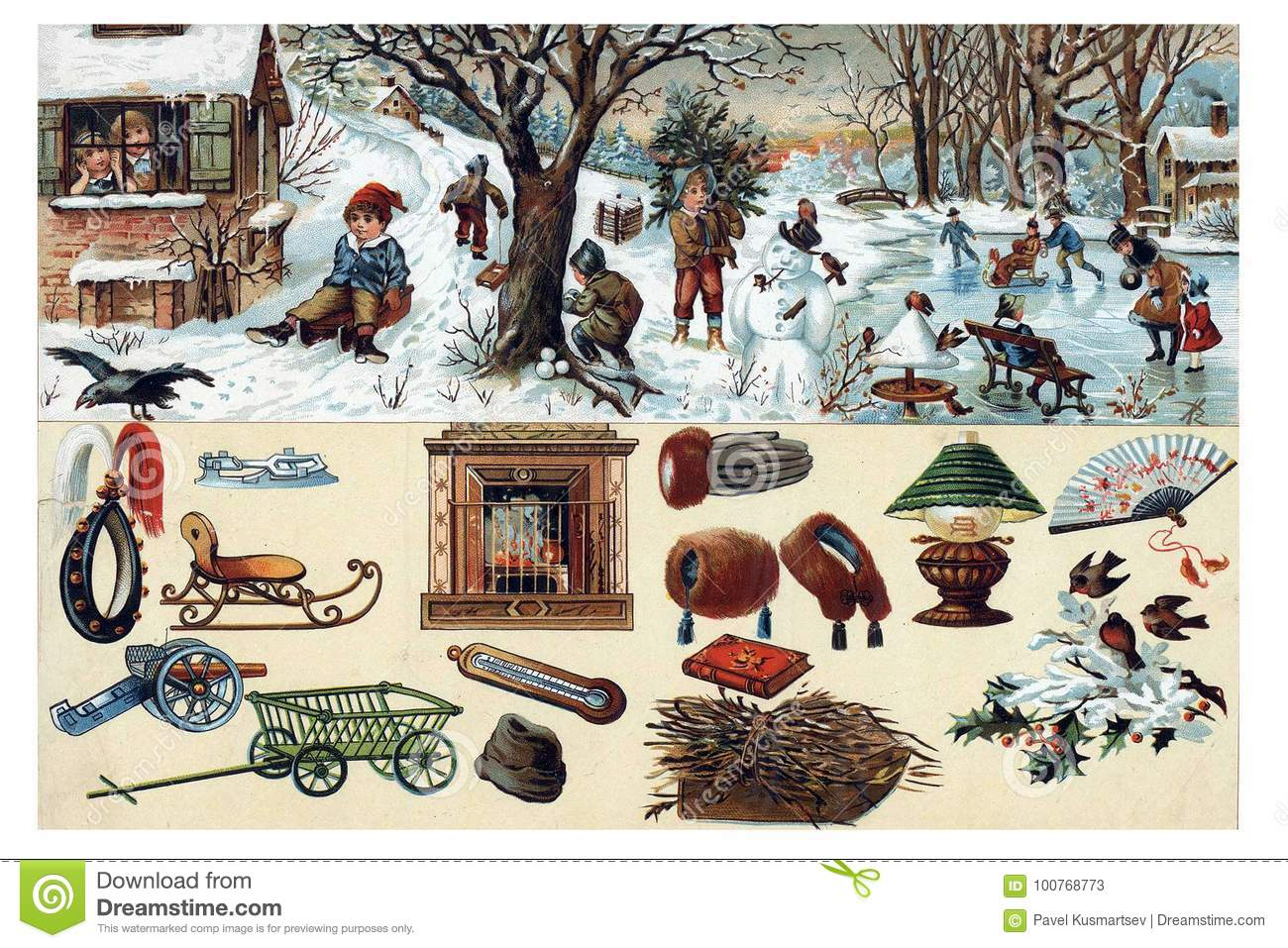 Download What Surrounds Us In Nature Winte Stock Illustration Illustration Of Century Illustration