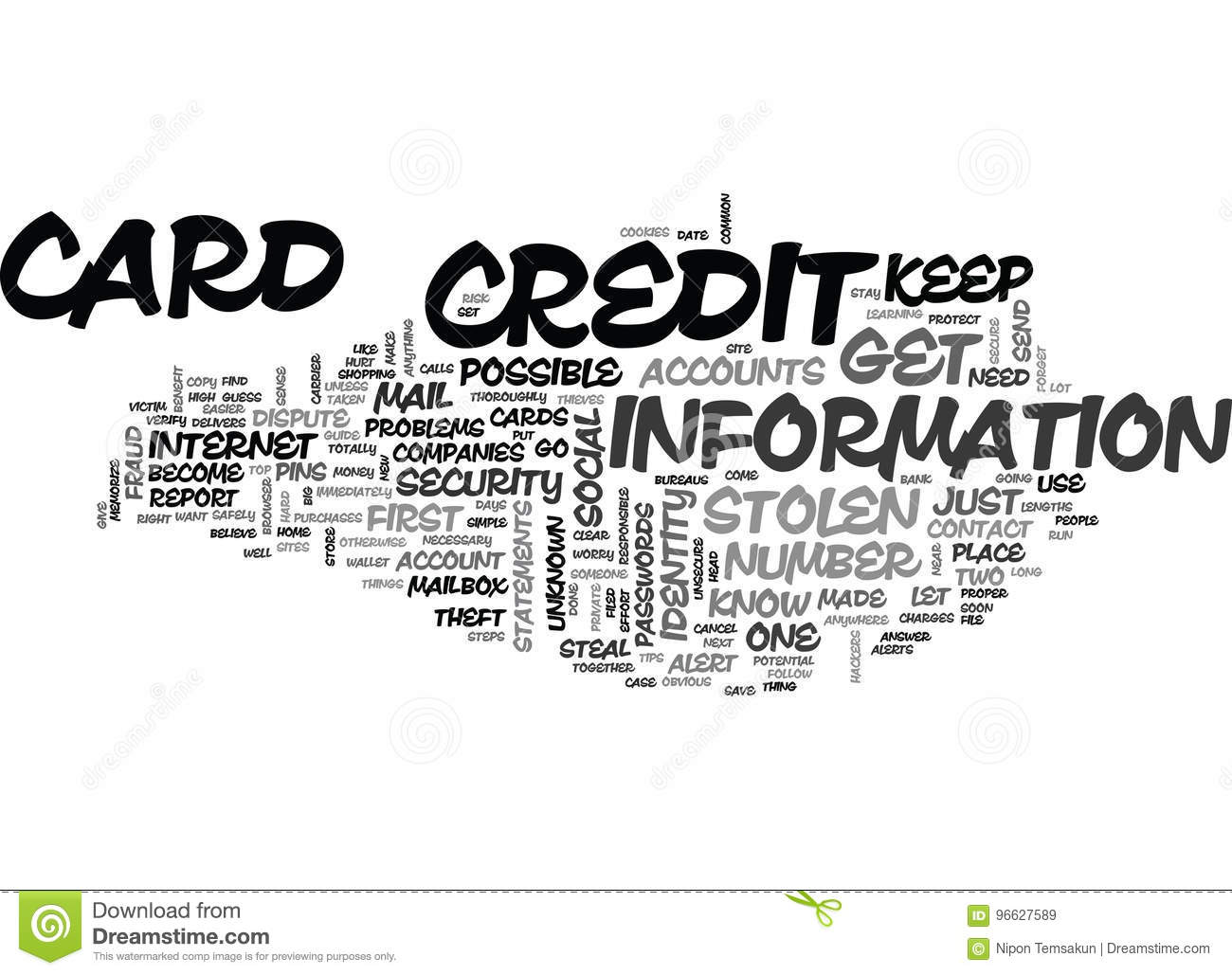 What To Do If Credit Card Is Stolen Let Common Sense Guideword Cloud