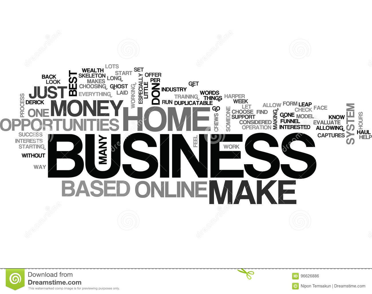 What To Look For In A Home Based Business Word Cloud Stock ...