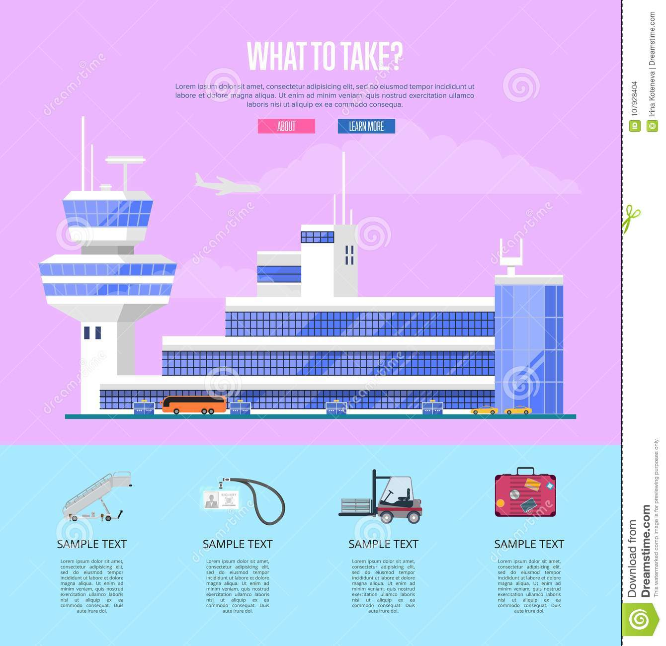 What to take concept for commercial airline