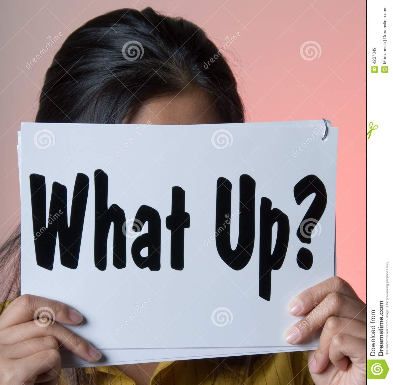 what up sign series stock image image of hair