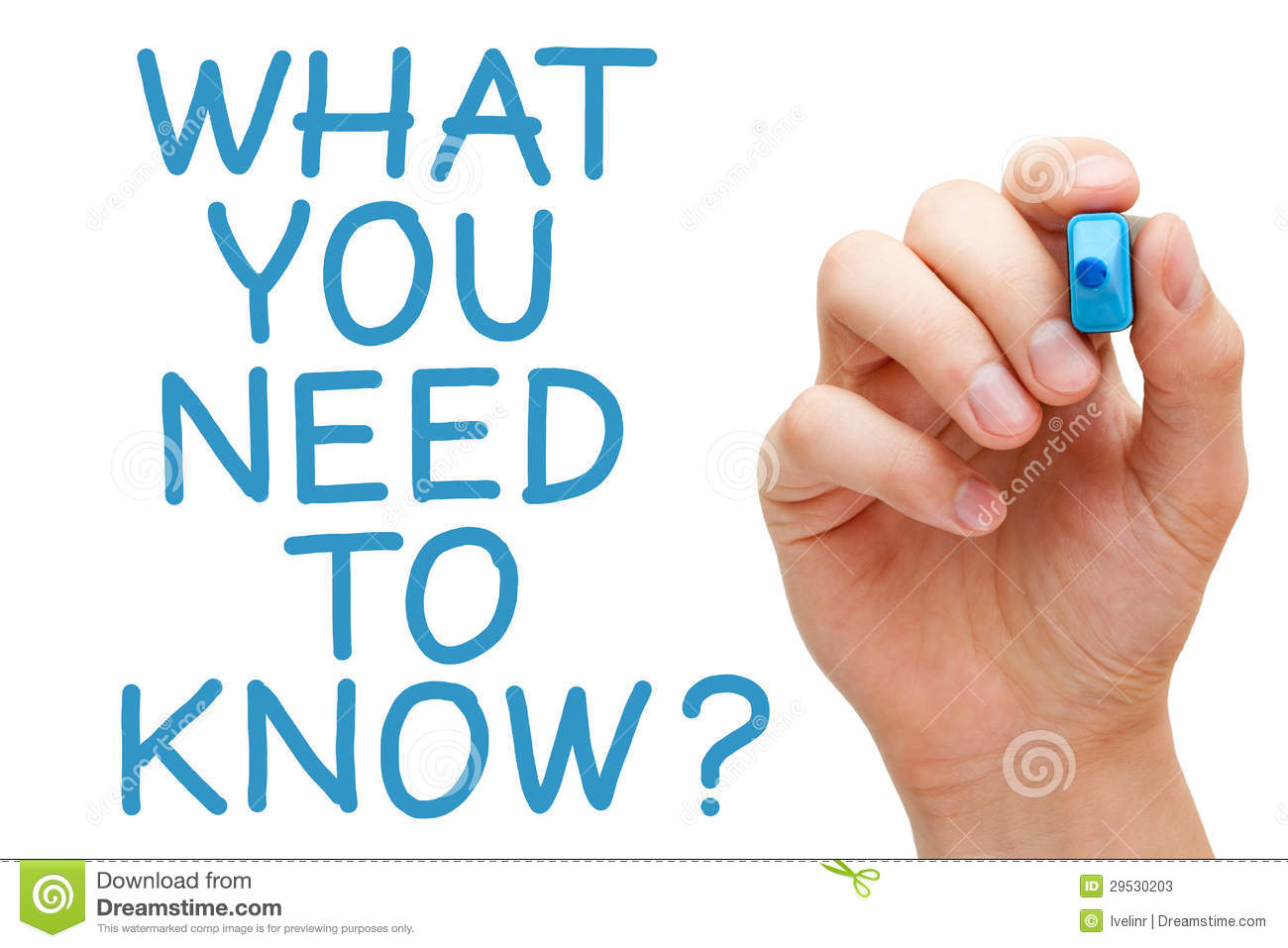 What You Need To Know Stock Image. Image Of Educate