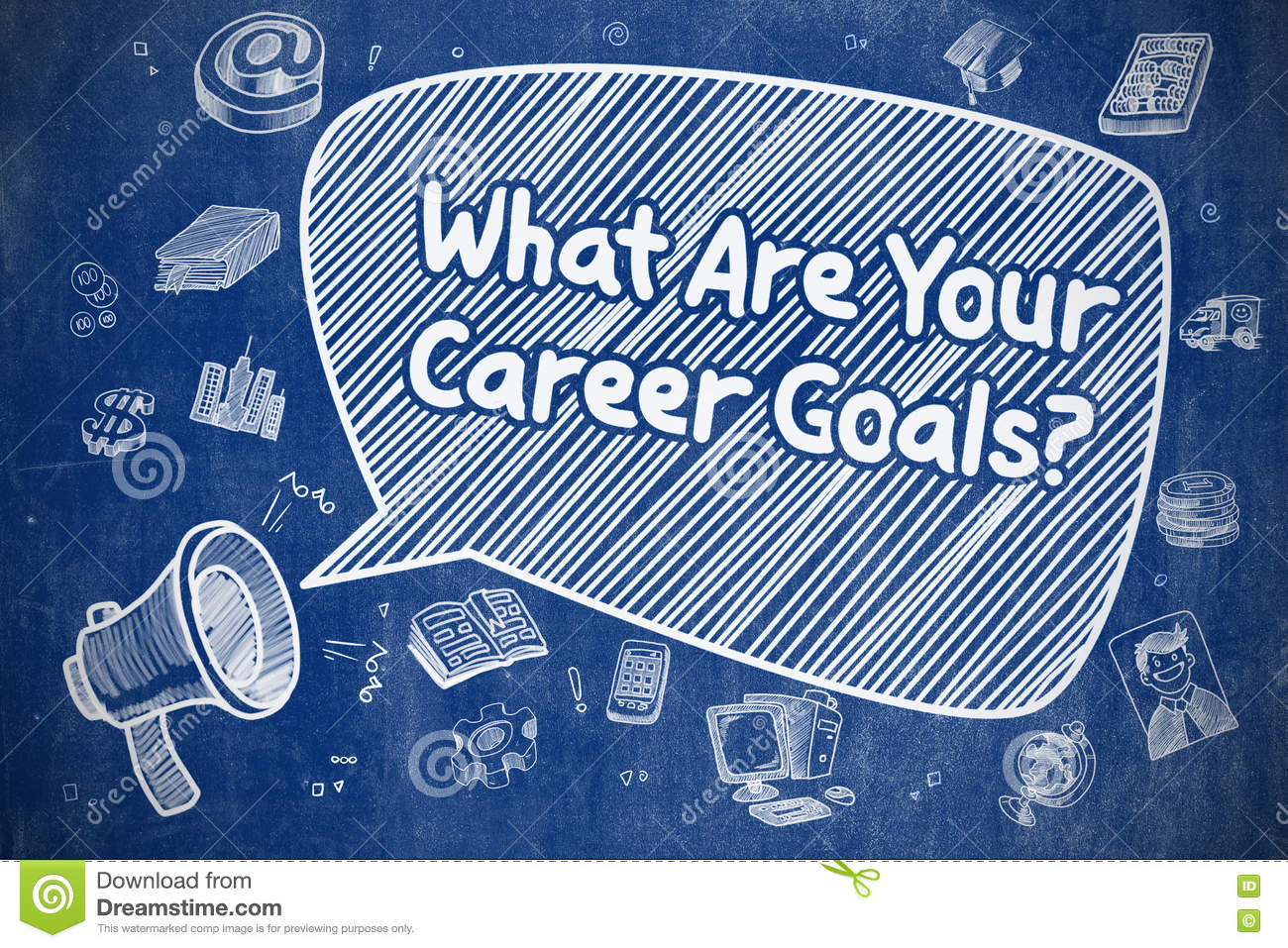 what are your career goals business concept stock illustration what are your career goals business concept