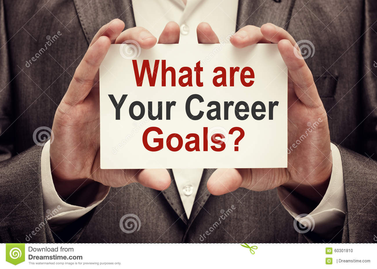 what are your career goals stock photo image  what are your career goals