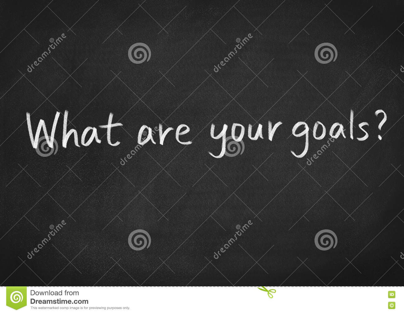 what are your goals stock illustration image  what are your goals