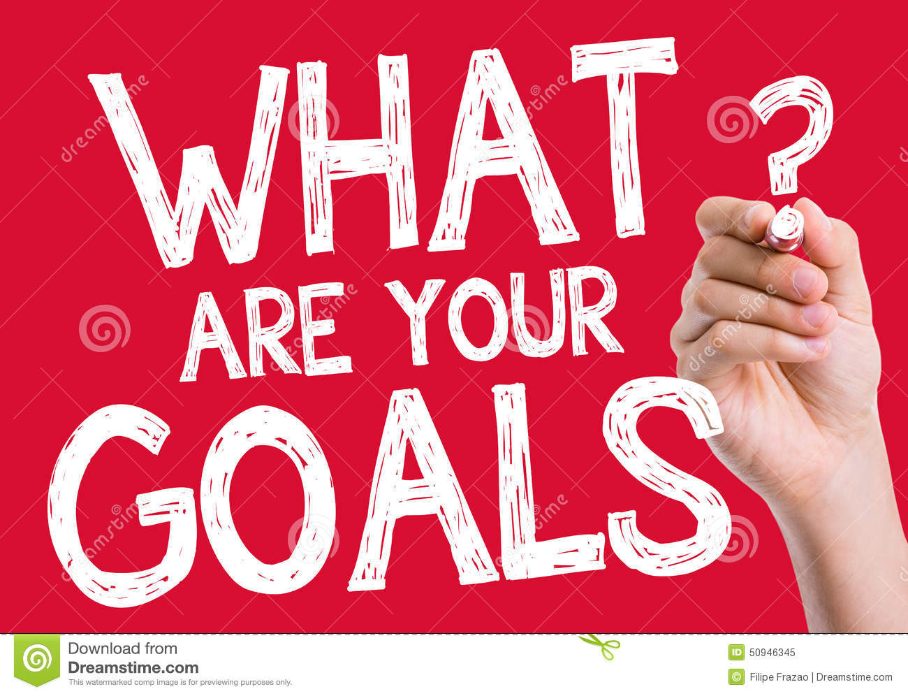 what are your goals written on wipe board stock photo image what are your goals written on wipe board