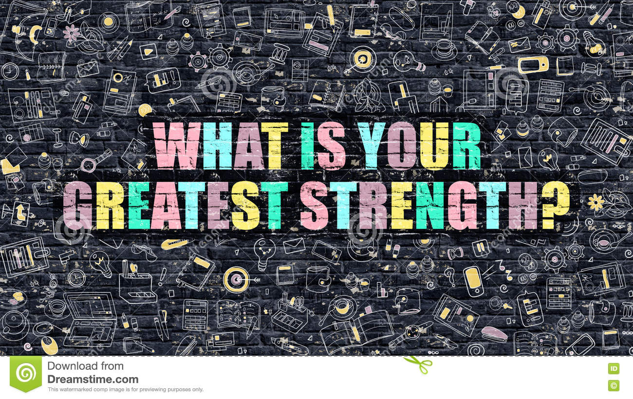 what is your greatest strength concept multicolor on dark bric what is your greatest strength concept multicolor on dark bric