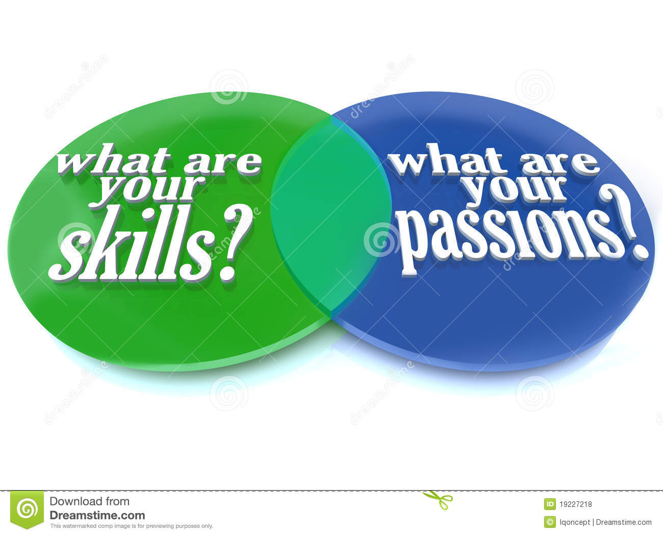 What Are Your Skills And Passions     Venn       Diagram    Stock