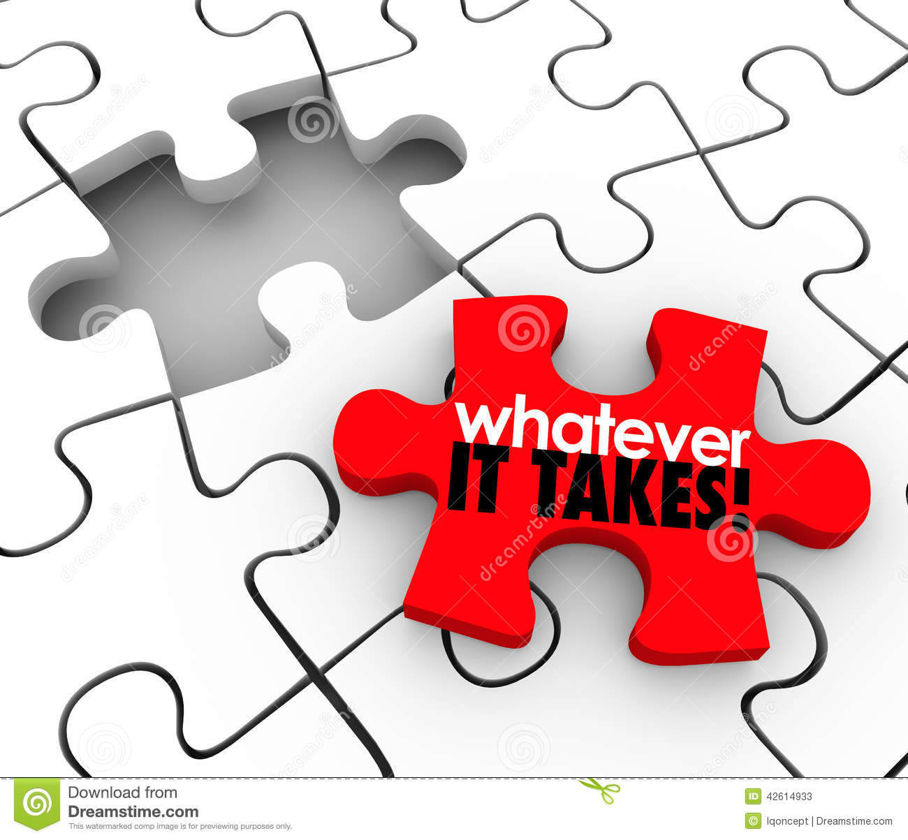 whatever it takes words puzzle piece finish complete job Bullfighter Clip Art Matador Outline