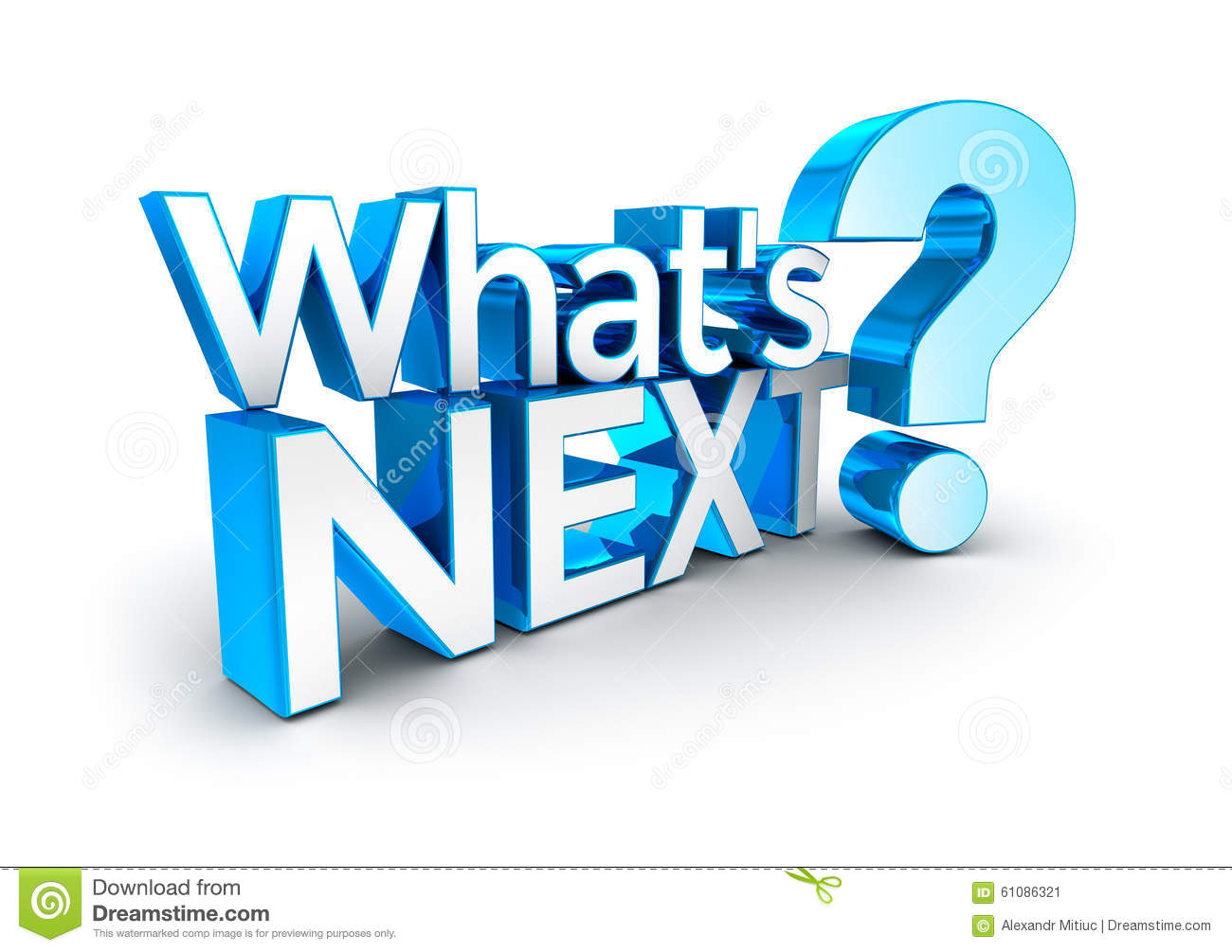 Whats next text stock illustration image 61086321 for What s a solid