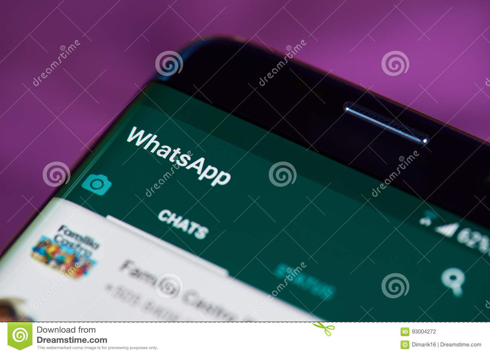 Whatsapp app on phone