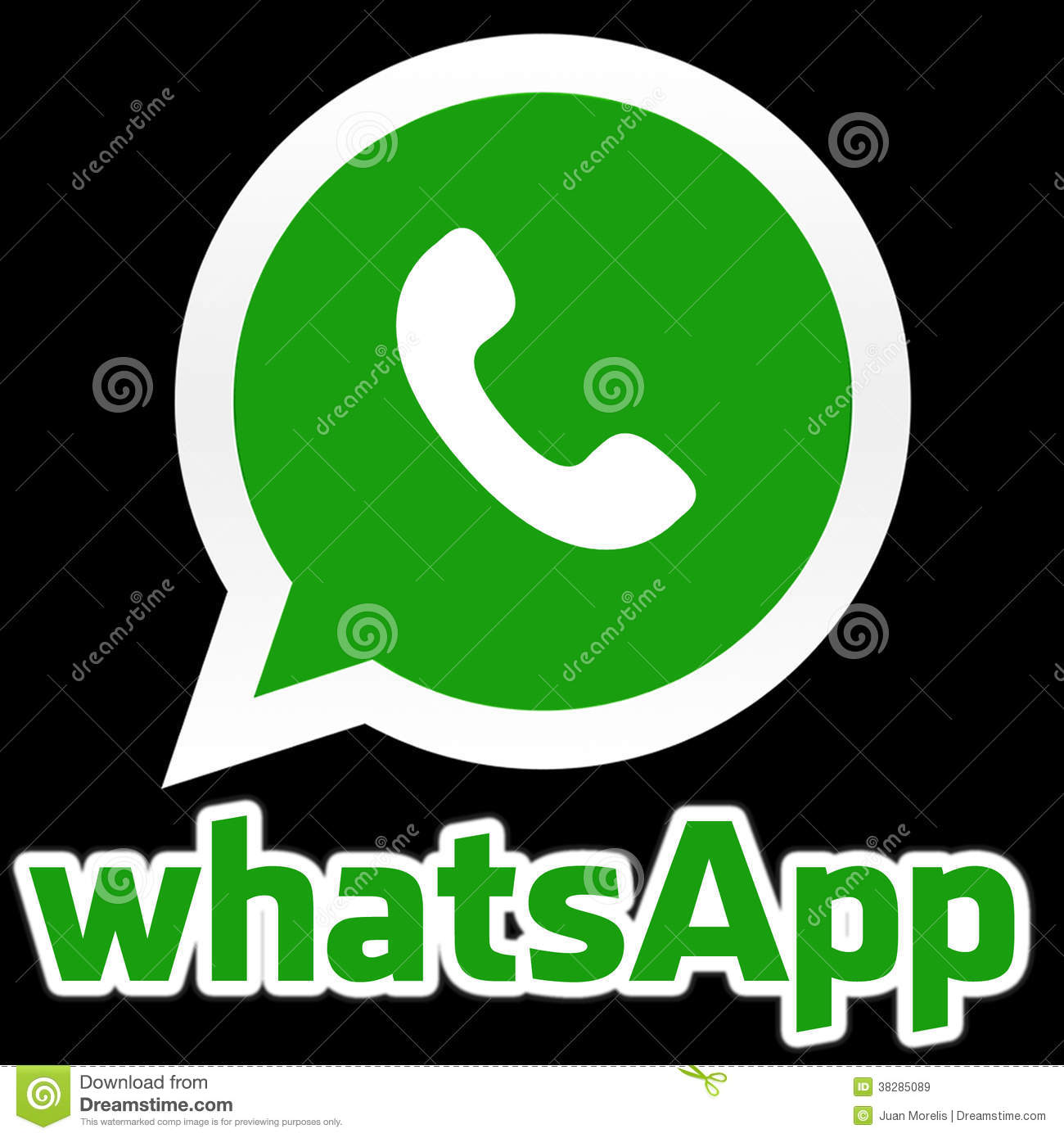 Whatsapp icon to use wherever you like with black background.