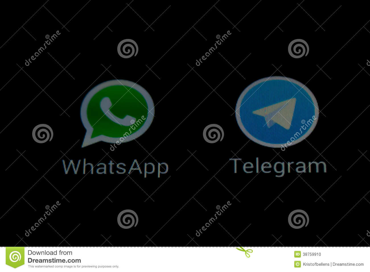 WhatsApp And Telegram Messaging Apps Editorial Image