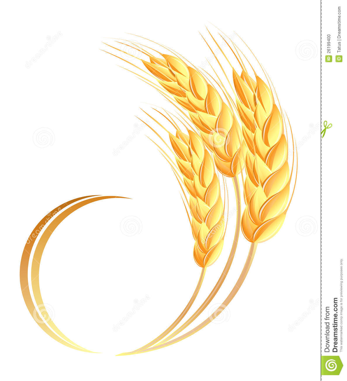 Wheat Ears Icon Stock Photo - Image: 26199400
