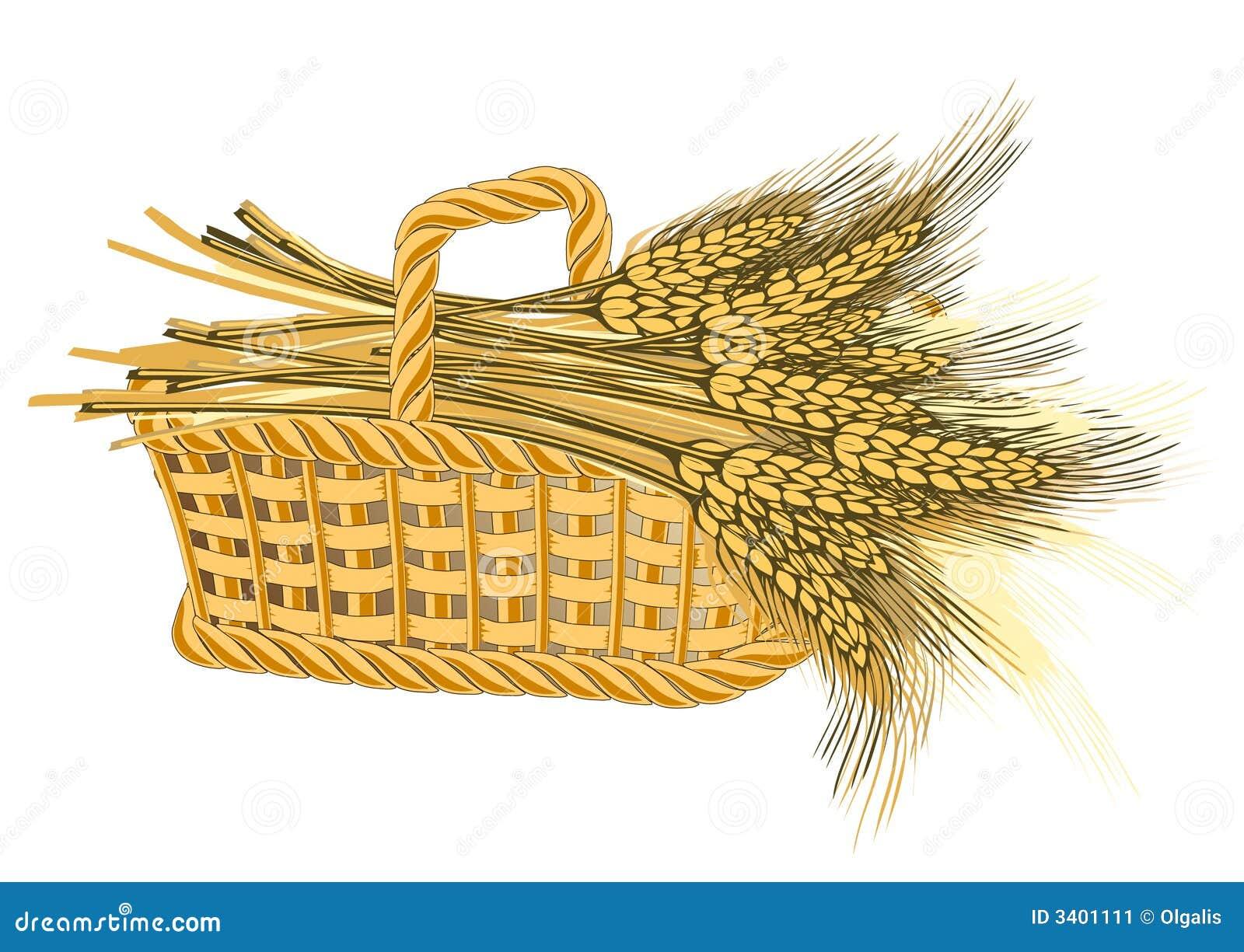 Wheat Harvest In Basket Stock Image Image 3401111