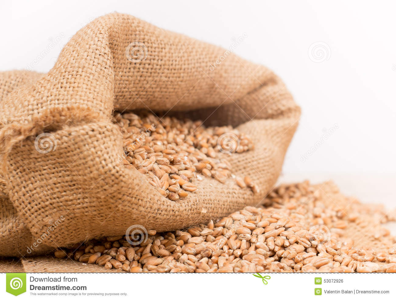 Wheat in a sack