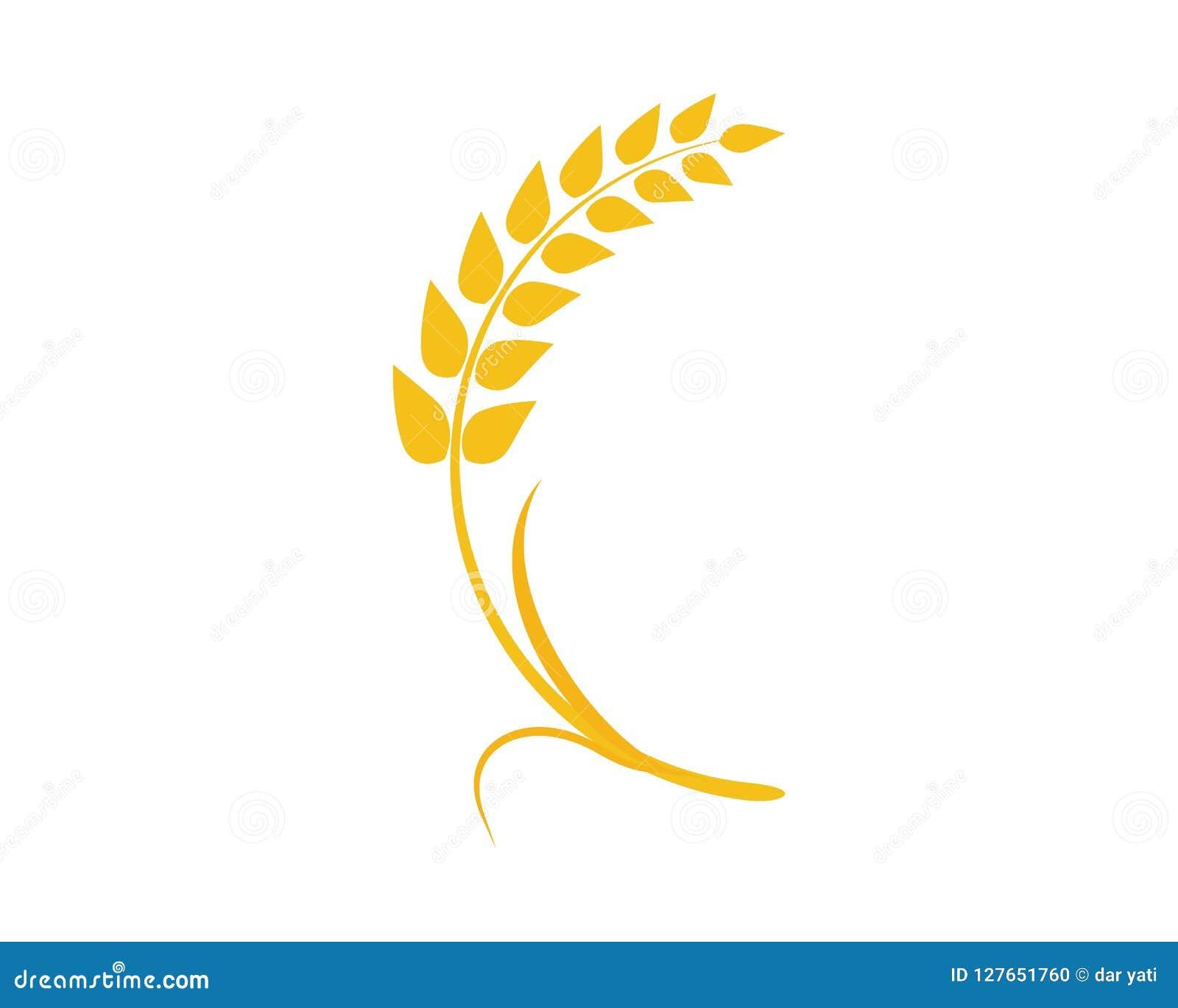 Wheat vector icon stock illustration. Illustration of ...