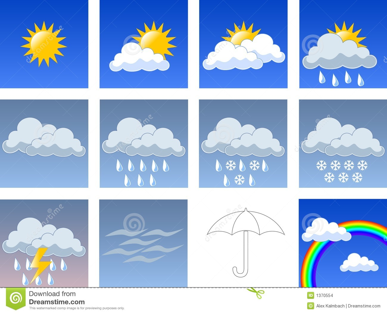 Wheather Symbols Stock Images