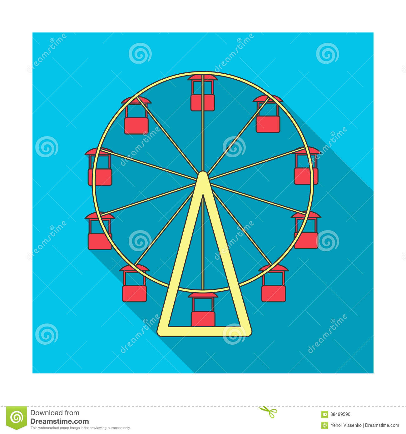 The wheel is in the amusement park slow attraction to explore the the wheel is in the amusement park slow attraction to explore the cityusement park single icon in flat style vector biocorpaavc