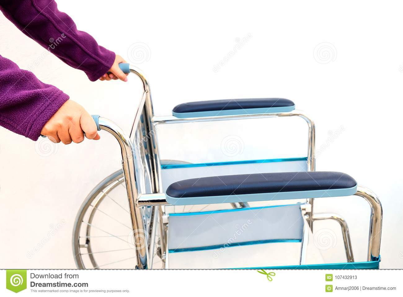 Wheel Chairs Standby For Help A Old People Stock Image - Image of ...