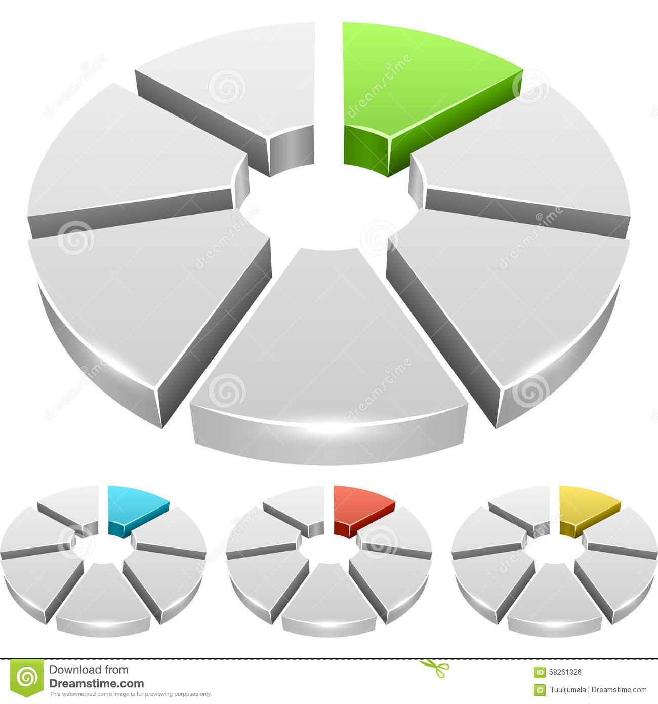 Color Wheel Bar Diagram On White Background Royalty Free