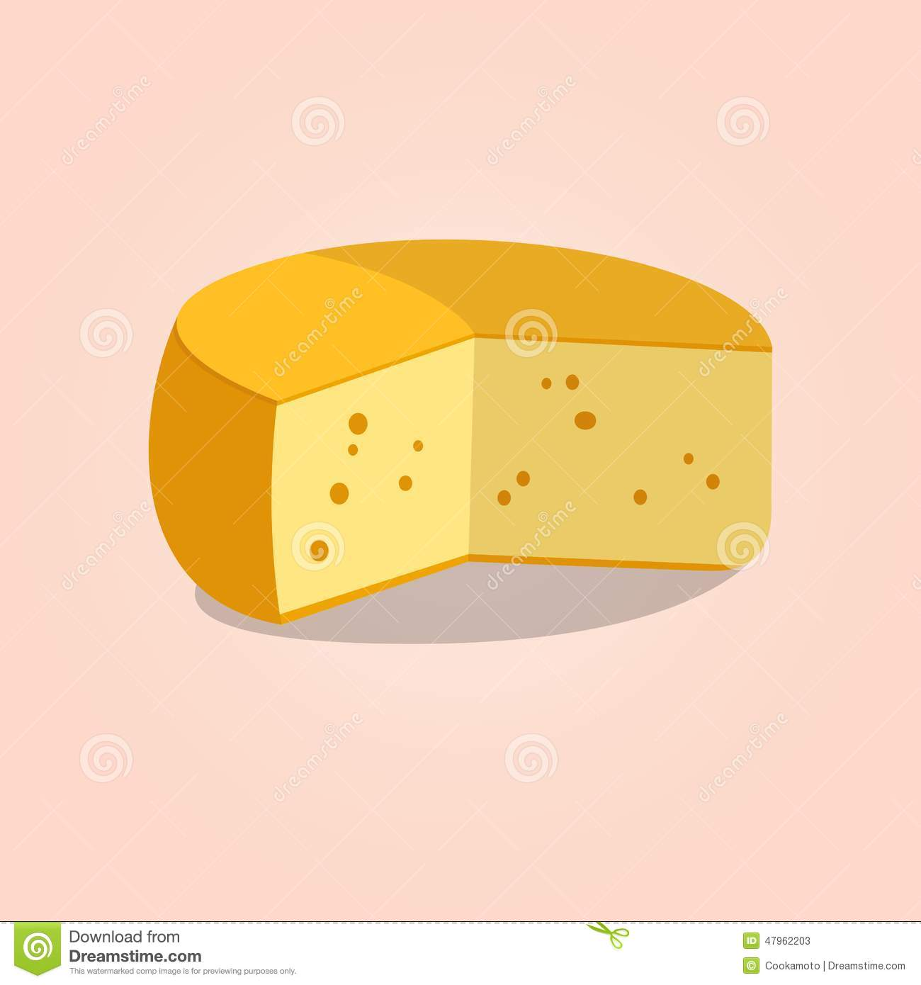Wheel Of Cheese  Vector Illustration Stock Vector