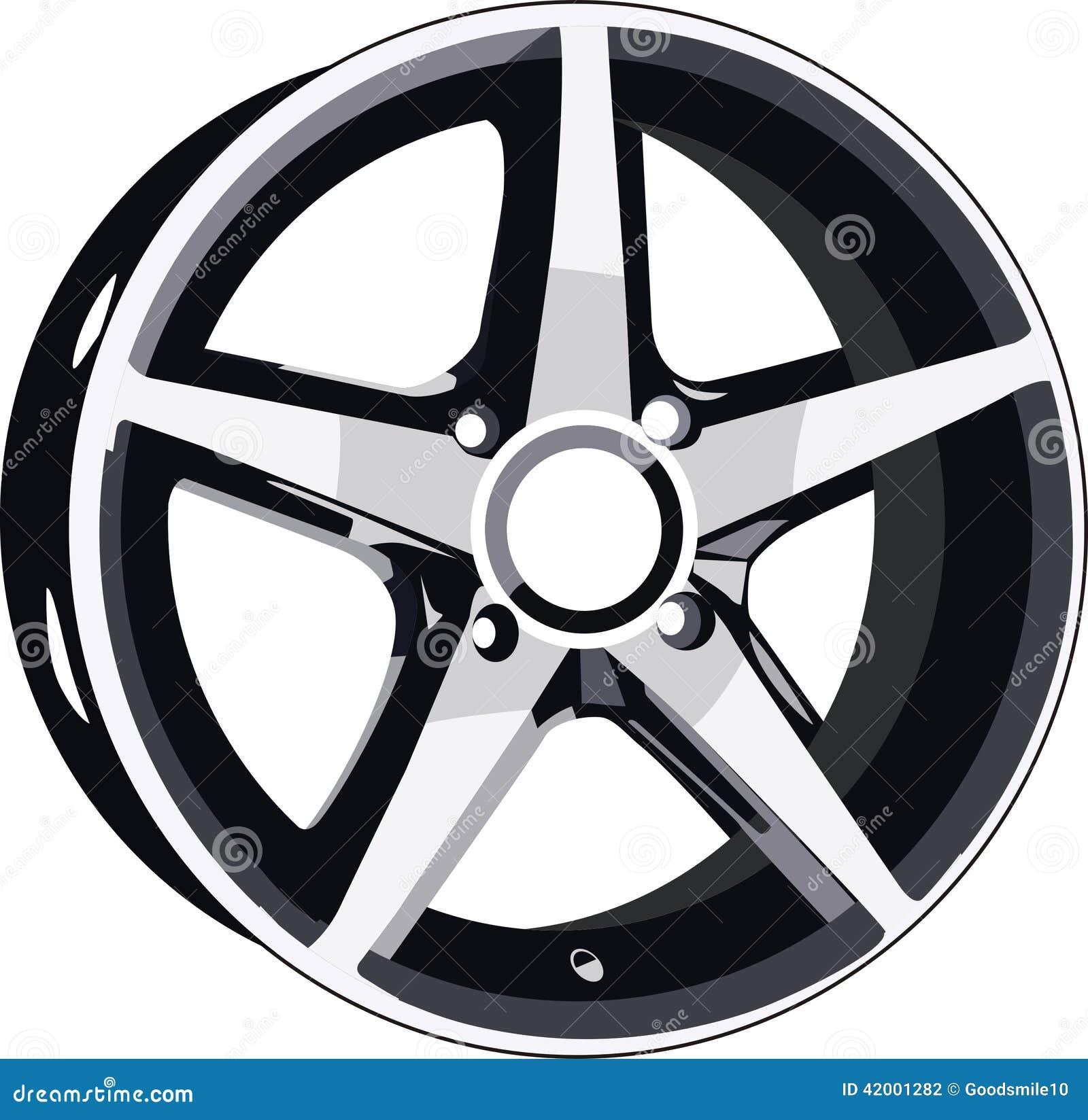 Wheel Disk Stock Vector. Illustration Of Race, Titanium