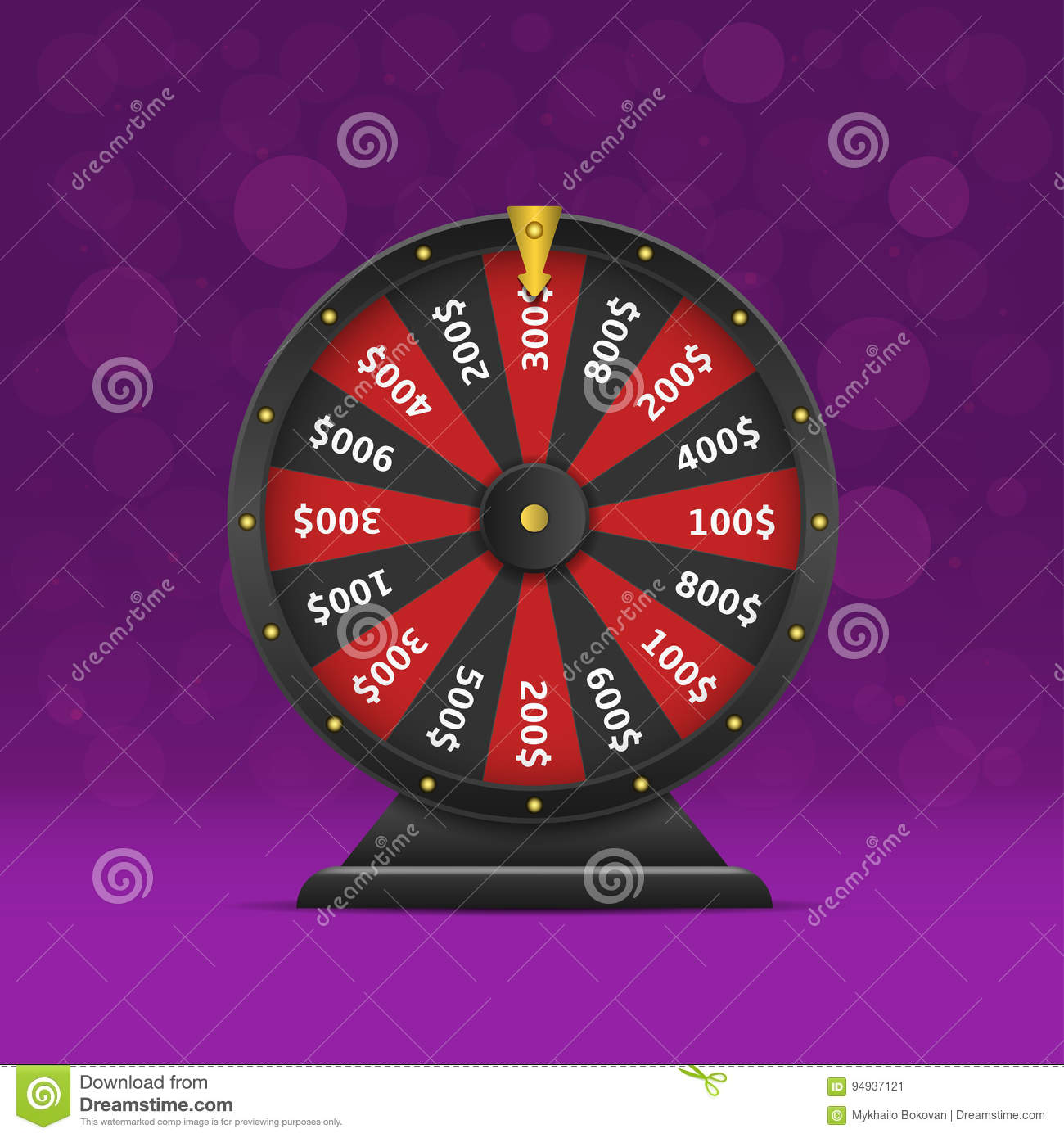 online wheel of fortune template - online cartoons illustrations vector stock images