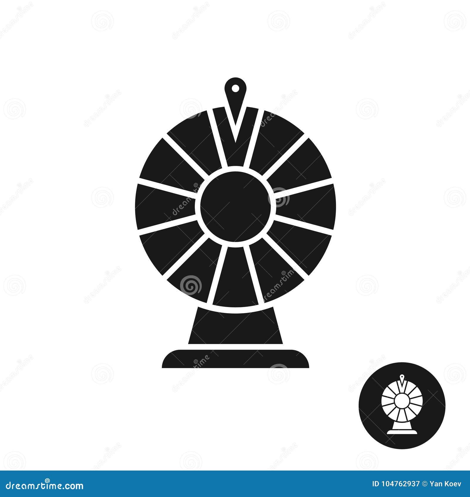 Wheel Of Fortune Black Icon Symbol Stock Vector Illustration Of